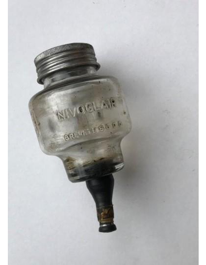 Bocal de maître cylindre Méhari en verre