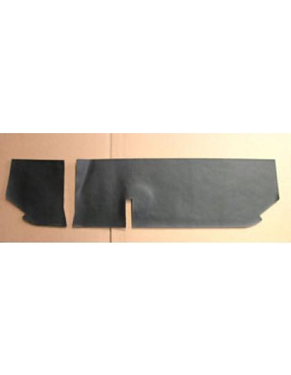 Garniture de tablette de boite à gants  2cv noire avec insonorisant