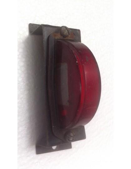 Cabochon de feu arrière demi-lune rouge, 2 CV anciennes avec son support pièces d'occasion