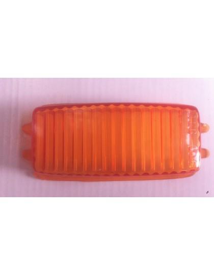 Cabochon de clignotant rectangulaire orange pour Méhari premier modèle