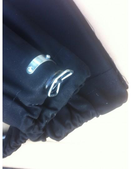 Capote 2CV  neuve, fermeture extérieure toile coton noire