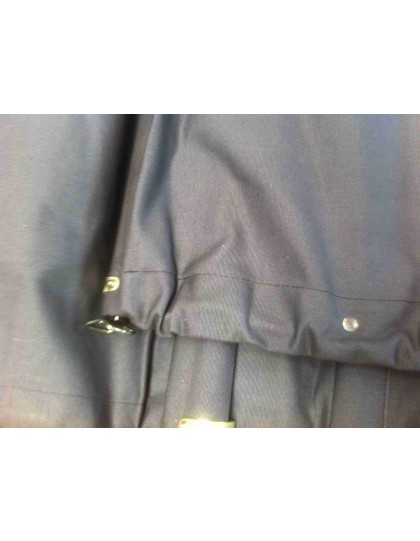 Capote neuve longue toile coton avec glace ovale pour 2cv avant 1957