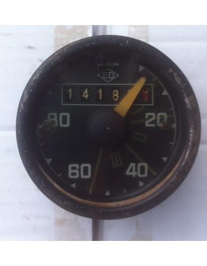 Compteur rond  2cv ED gradué de 20 à 80 km/h