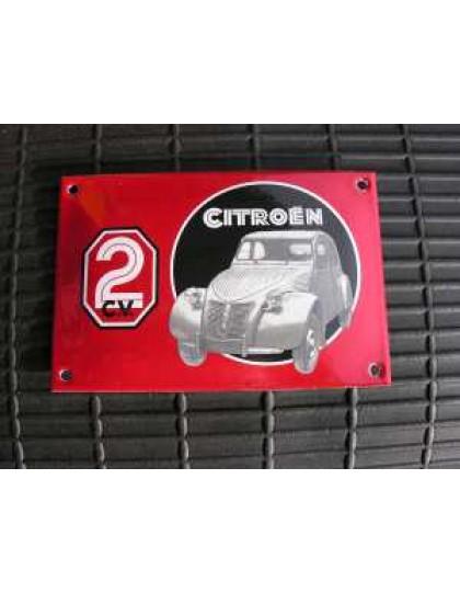Plaque émaillée 2cv rouge et noire,100X150mm de multiples idées cadeaux 2cv dans notre rubrique librairie et cadeaux.