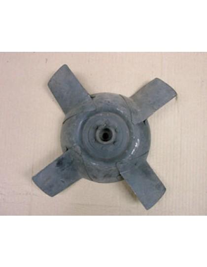 Hélice de ventilateur tôle 4 pales 2cv type A