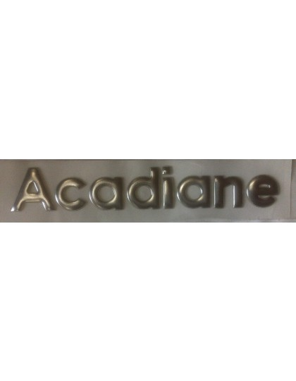 Emblème argenté Acadiane