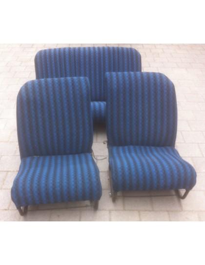Ensemble de sièges + banquettes tissu damiers bleu 2cv et Dyane