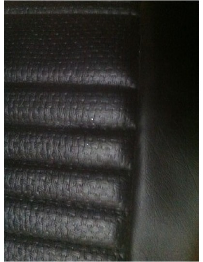 Garniture de banquette arrière Ami 8 break rabattable en targa noir