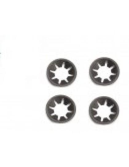 Lot de 4 clips de fixation de chevrons sur le capot de la 2cv
