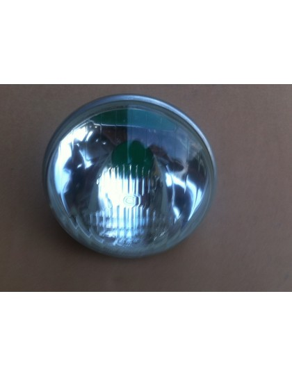 Optique de phare 2CV Cibié  ABTP 502 avec cerclage aluminium