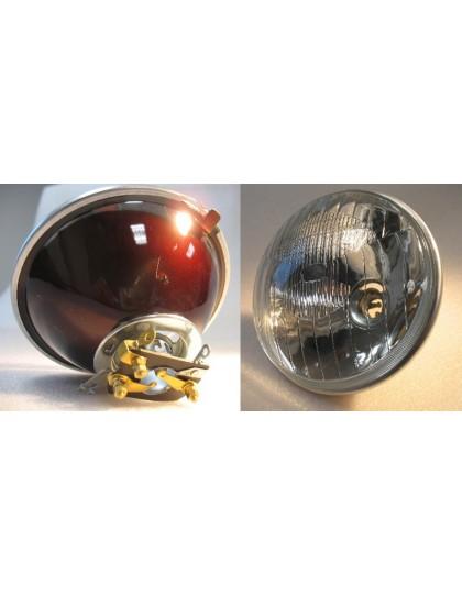 Optique de phare ancien modèle sans trou de  veilleuse copie du Cibié, porte ampoule à adapter*offert