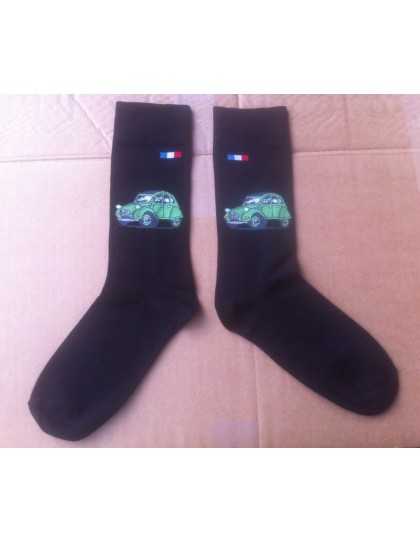 Paire de chaussettes hommes 43/46 2cv Vert Bambou