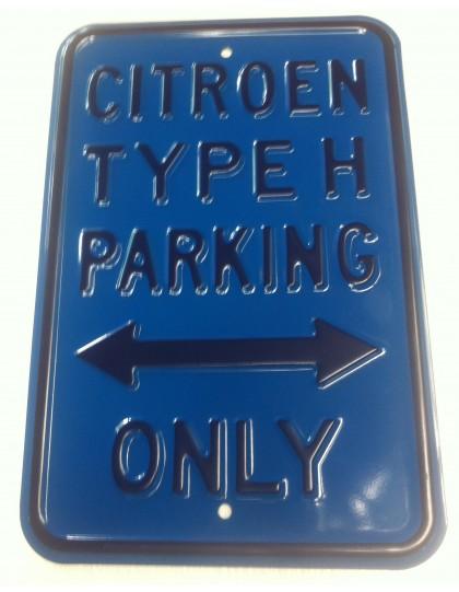 Plaque parking Hy en tôle peinte emboutie 45.5x 30 cm
