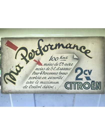Publicité réclame sur les performances de la 2cv dans les années 50 2cv performance