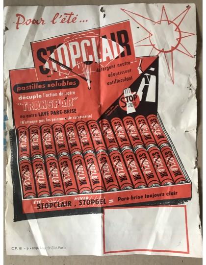 Publicité Transpar pour pastilles solubles pour le nettoyage du pare-brise de la 2cv