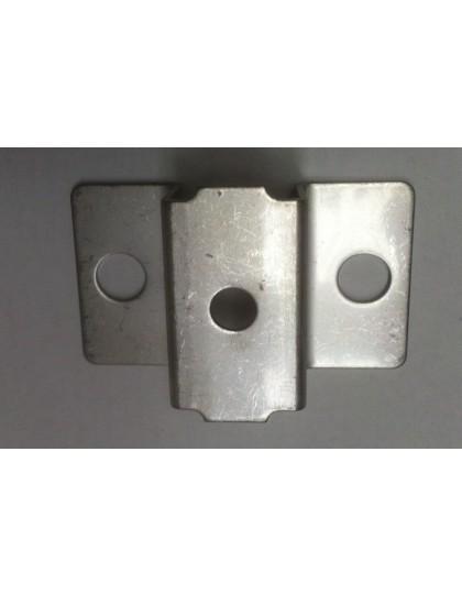 Support arrière du pot sous caisse partie haute en inox 2cv