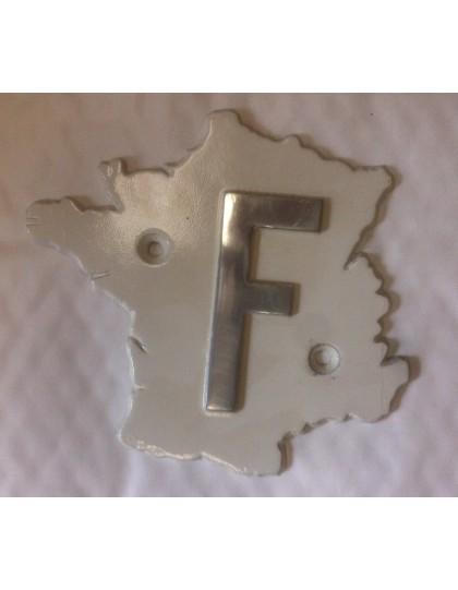 Véritable F GH France sur fond blanc