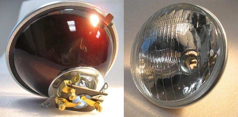 pi u00e8ces d u00e9tach u00e9es 2cv et mehari - optique de phare 2cv montage ba u00efonnette