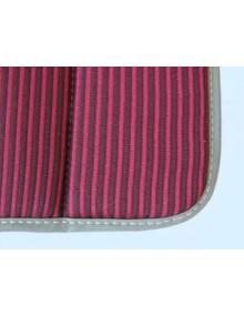 1 Garniture bayadère rouge,2cv ancienne assise renforcée * ourlet gris ou noir selon arrivage