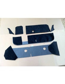 Garnitures intérieure de boîte à gants, de tablette et de plancher de pédales 2cv (avant juin 1958 ? ) 8 pièces + 2 rivets tubulaires offerts. Exclusivité Ami 2cv