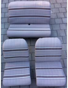 Ensemble de garniture de sièges beige rayé marron