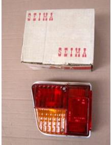 Cabochon de feu arrière gauche 2CV4 et 6 avant 1972 avec entourage aluminium + porte ampoule 2cv offert