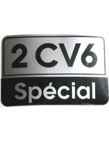 Autocollant 2CV 6 SPECIAL gris noir livraison offerte en France continentale