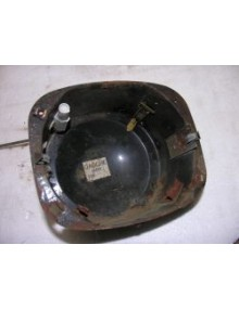 Cuvelage phare gauche tôle  Dyane  avec cable de règlage