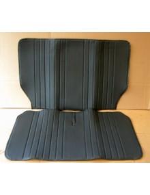Garniture de banquette arrière 2cv targa noir, assise + dossier en 2 parties