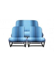 Ensemble de garnitures de sièges rayés bleus asymétriques 2cv et Dyane*