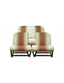 Ensemble de garnitures de sièges rayé rouge asymétrique 2CV Dyane*