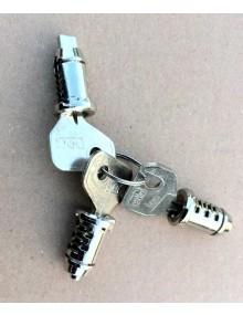 Jeu de 2 barillets de porte et un barillet de contacteur à clé