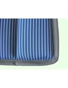 Garniture Bayadère bleue 2CV ancienne assise renforcée* ourlet gris ou noir selon arrivage SUR COMMANDE