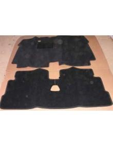Tapis de sol en velours noir, 2CV depuis 1970, (les 2 pièces)