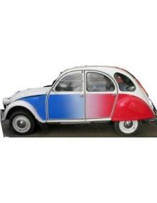 Ensemble autocollants 2cv Cocorico pour 2cv série limitée  Mettez votre 2cv aux couleurs de la France  livraison gratuite en France continentale