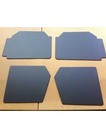Ensemble de  4 panneaux de porte 2cv Spécial/Dolly en skai gris foncé
