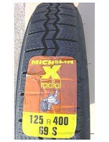 Pneu Michelin 125R16  2CV avant 1960 (en 400)