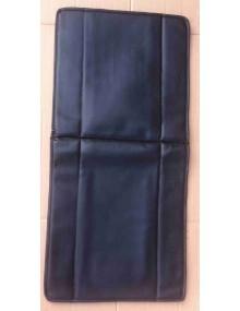 Garniture de siège en skai noir lisse 2cv fourgonnette avec rabat à l'arrière du dossier