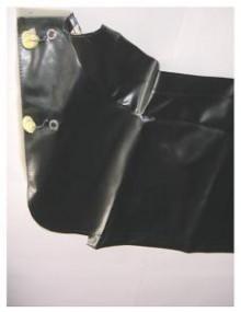 Hamac de coffre en skaï noir lisse comme à l'origine, 2CV