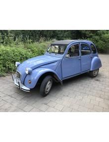 2cv6 spécial bleue céleste du 04/07/1990 110 000 kms intérieur sièges séparés tissu écossais chiné, châssis galvanisé Wheels