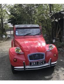 2cv6 Spécial rouge Vallelunga entièrement restaurée avec châssis galvanisé Wheels mis en en circulation le 10/01/1989 25 000 kms au compteur intérieur Bleu Denim