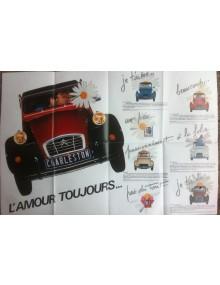 Brochure publicitaire les petite Citroën, 2cv Charleston l'amour toujours