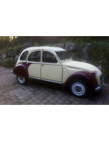 2CV Dolly Jaune Rialto et Rouge Delage