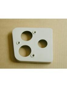 Rehausse de feu arrière gauche 2cv gris comme à l'origine avec un joint d'étancheité côté caisse