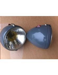Paire de phares Equilux Marchal couleur de la photo non contractuelle (gris clair) livraison offerte en France continentale y compris Corse
