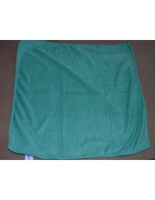 Chiffon microfibre classique vert foncé idéal pour faire briller la carrosserie sans la rayer après application des produits