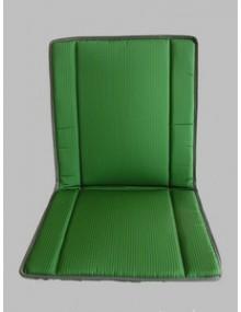 1 Garniture Bayadère vert, 2cv ancienne assise renforcée* ourlet gris ou noir selon arrivage