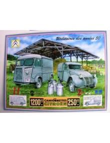 Tôle sérigraphiée les camionnettes Citroën