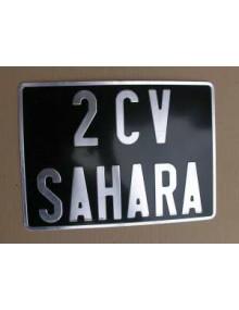 Plaque d'immatriculation arrière 27.5 X 20 carrée Acadiane*