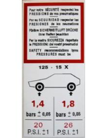 Autocollant pneumatiques 2cv Livraison offerte en France continentale